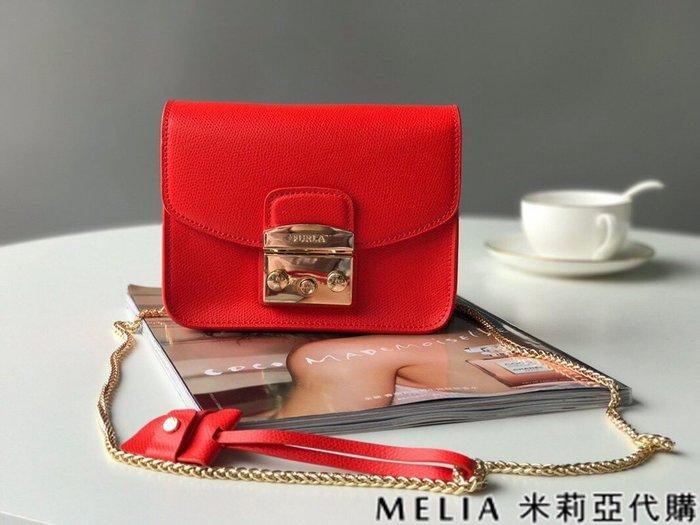 Melia 米莉亞代購 商城特價 數量有限 每日更新 FURLA 經典小方 淑女包 單肩斜背包 素色來襲 紅色