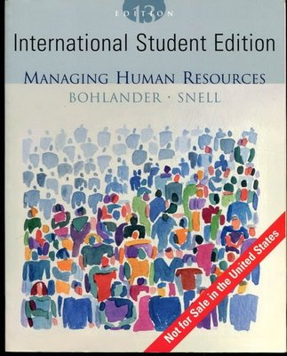 【語宸書店B405/原文書】《Managing Human Resource》ISBN:0324282869│Bohlander , Snell