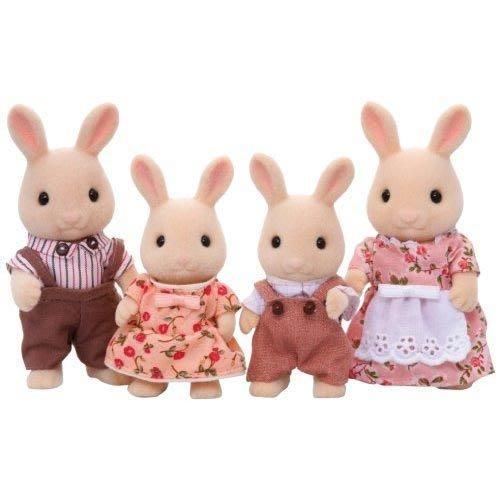 【阿LIN】14370A 牛奶兔家庭 森林家族 正版ST安全玩具 Sylvanian families