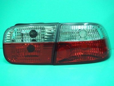 ☆小傑車燈家族☆全新高亮度喜美5代 K6 3門 k6 3d 紅白晶鑽尾燈一組1800元