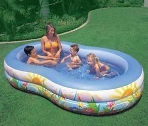 【優上精品】原裝INTEX56490 8字形水池 家庭遊泳池 兒童遊泳池 海(Z-P3249)