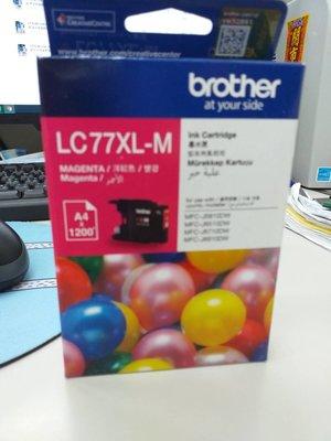 呈運Brother LC77XL/LC77XL 紅色原廠超大容量墨水匣 適用:MFC-J5910/J6710/J6910