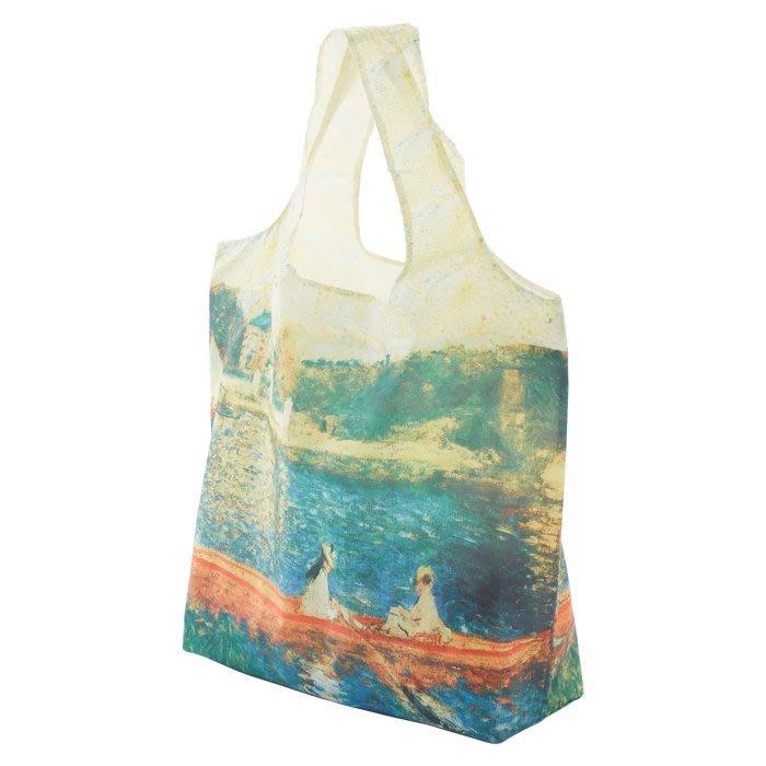 日本進口~名畫 莫內 雷諾瓦 春捲包 / 環保購物袋