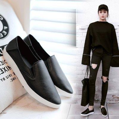 =WHITY=韓國GRAMMI品牌 韓國製  時尚百搭真皮小厚底鞋個性舒適鍾愛自留柔軟精品 S7BT831