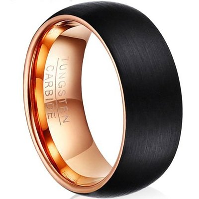 coi jewelry tungsten carbide two tone wedding band ring 戒指
