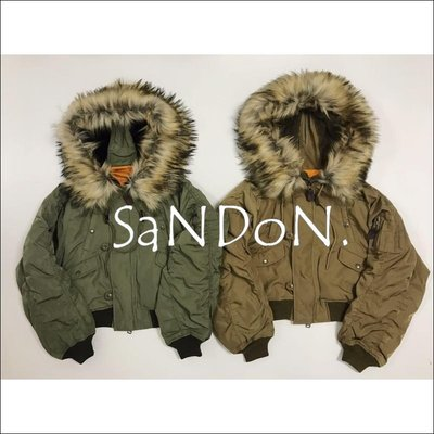 SaNDoN x『MOUSSY』冬季重點單品 短版N2b大毛領ma-1飛行外套夾克 sly 171228