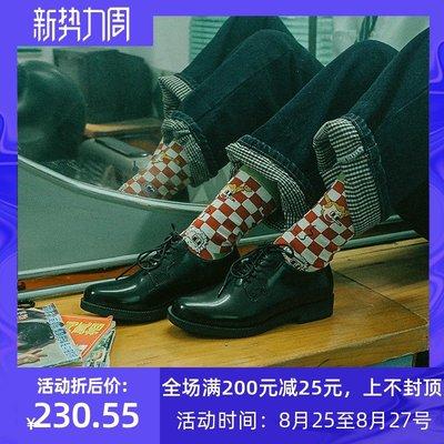 Venaessa韓國現貨女鞋「StuckB咸魚共和國」黑色百搭jk日系制服鞋小皮鞋女學生院風單鞋
