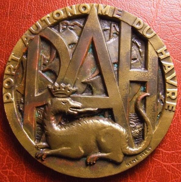 法國銅章 1964 France Port of Havre Journees Medal
