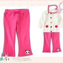【B& G童裝】正品美國進口Crazy8 熊貓臉內軟刷毛粉紅色長褲18-24mos,2,3yrs