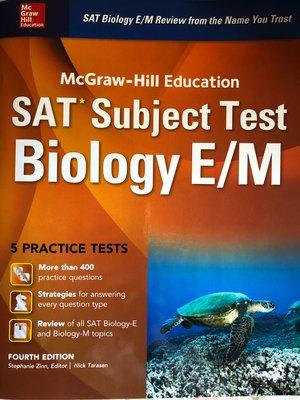 [免運] SAT Subject Biology E/M Test McGraw-Hill 4th Edition 全新未書寫