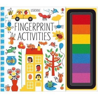 【中商原版】手指印畫活動書 英文原版 Fingerprint Activity Pack 螺旋裝幀 兒童創意繪畫DIY