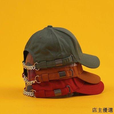 帽子男女秋冬潮人學生街頭鏈條嘻哈棒球帽韓版百搭字母刺繡鴨舌帽