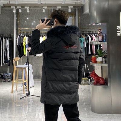 歐韓貨冬季加厚羽絨服男士中長青年帥氣寬松毛領修身大衣反季外套潮流