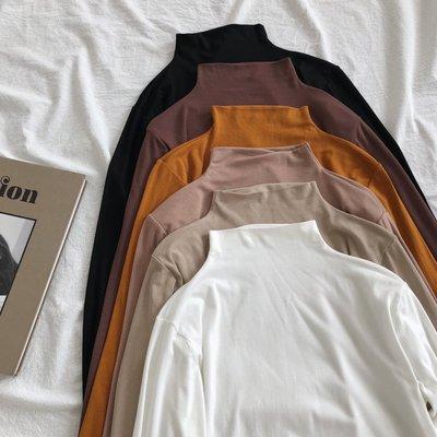 My fit guys 休閒 百搭 中高領 內搭 彈性修身 顯瘦 薄款 長袖上衣 打底 長袖T恤 6款 預購