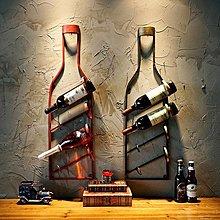 歐式複古紅酒架葡萄酒架子複古鐵藝酒瓶擺件牆上裝飾品