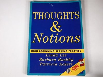 【考試院二手書】《Thoughts & Notions: High Beginning Reading Practice》│Heinle │LEE, LINDA│(11F33)
