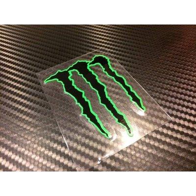 【貼紙倉庫】鬼爪立體貼紙 螢光綠+黑(小)