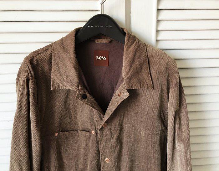 Hugo Boss 咖啡色燈芯絨襯衫式外套