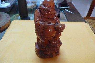 紫色小館85~~--早期木雕彌勒佛
