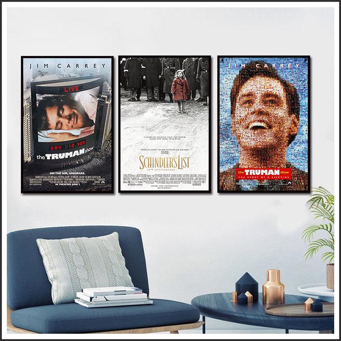 楚門的世界 辛德勒的名單 搶救雷恩大兵 Ryan 海報 電影海報 藝術微噴 掛畫 @Movie PoP 賣場多款海報#