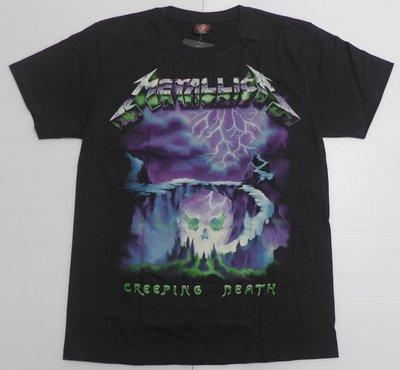 【Mr.17】金屬製品樂團 Metallica Creeping Death 重金屬搖滾團T短袖T恤骷髏(H797)