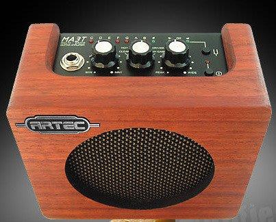 《民風樂府》ARTEC MA3TW 原木迷你音箱 內建調音器可裝電池 全新品公司貨