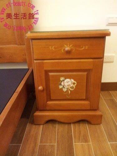 美生活館--鄉村彩繪家具風格-- 普羅旺斯 彩繪溫馨玫瑰 床頭櫃--有衣櫥/床/斗櫃/鏡台可搭