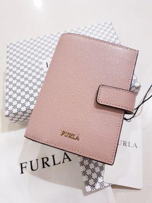全新正品  義大利精品 FURLA 短皮夾 乾燥玫瑰粉色