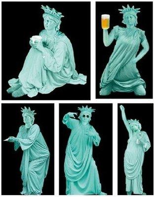 【動漫瘋】  轉蛋 T-ARTS 自由過頭的女神像 自由女神 雕像 2代 全5種 公仔
