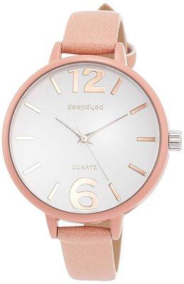 日本正版 Fieldwork DT154-2 大錶面 腕錶 女錶 女用 手錶 粉紅色 皮革錶帶 日本代購