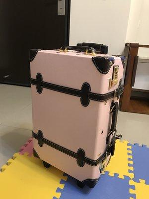 I-PRIMO 正品粉色20吋 復古行李箱 登機箱