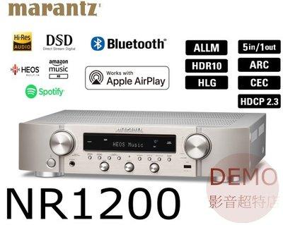 ㊑DEMO影音超特店㍿日本Marantz NR1200  多功能搭載HDMI無線音樂串流播放綜合擴大機