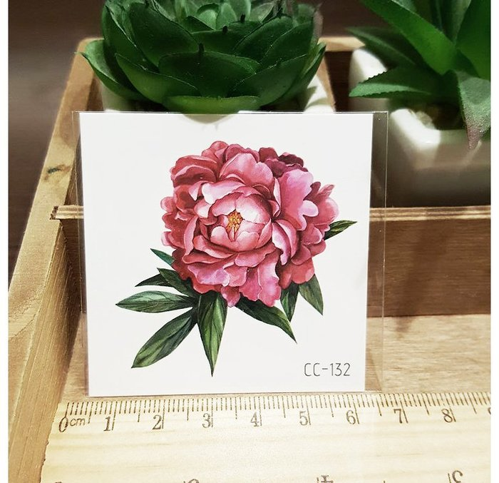 【萌古屋】花朵單圖CC-132 - 防水紋身貼紙刺青貼紙K38