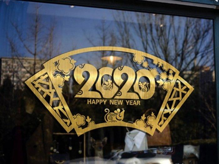 小妮子的家@2020新年裝飾壁貼/牆貼/玻璃貼/磁磚貼/汽車貼/家具