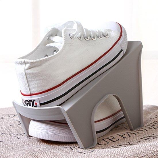 ☜shop go☞  鞋架 雙層 鞋撐 塑料 鞋櫃 防滑 可疊放 鞋子 收納架 整理 立體式 雙層鞋架 【A012】