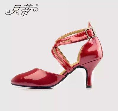 《國標代購》貝蒂 正品 紅色 舞鞋 漆皮紅舞鞋 摩登舞《台北可面交》