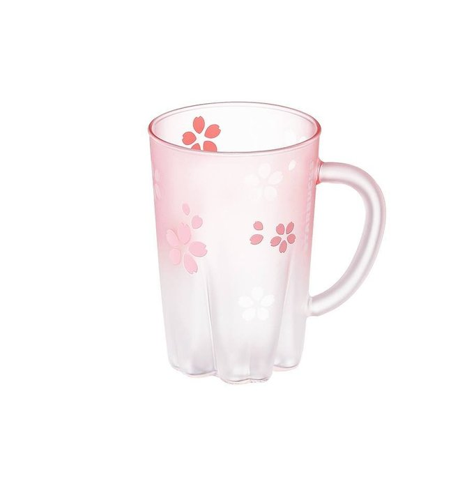 【現貨】韓國星巴克 2019櫻花系列--櫻花握柄玻璃杯355ml