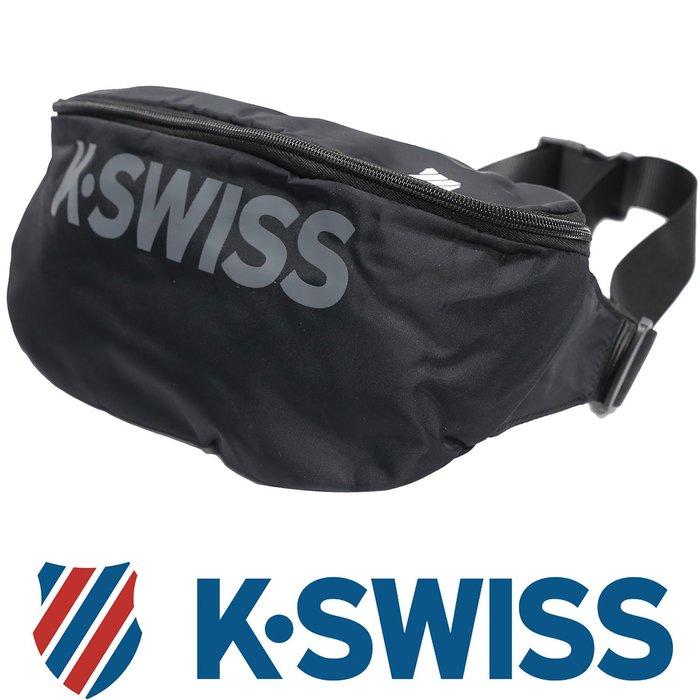 鞋大王K-SWISS BG032-(008黑色)、400(藍色) 30×10×17㎝休閒運動大腰包【特價出清,免運費】
