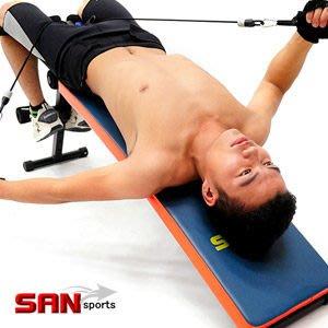 【推薦+】SAN SPORTS特長!!弧形仰臥起坐板+拉力器C153-005健腹機健腹器.拉力繩彈力繩.仰臥板