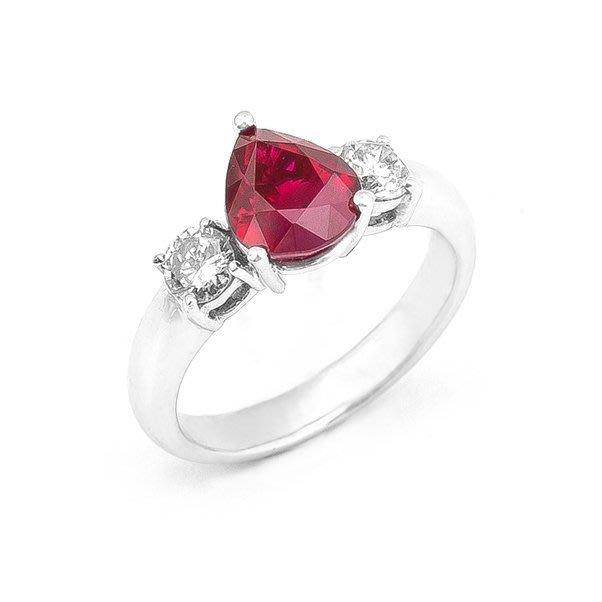 【JHT金宏總珠寶/GIA鑽石專賣】2.03ct天然紅寶鑽戒/材質:PT900()R00008