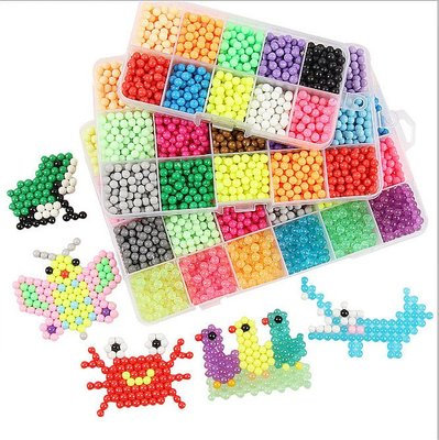 (1號)水霧神奇魔珠 兒童DIY手工創意 拼圖豆豆玩具 噴水魔法珠 兒童玩具 魔豆水黏珠