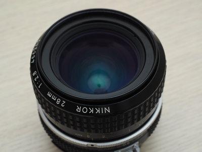 ☆林Sir石牌館 二手Nikon AI 28mm f2.8 手動對焦鏡頭