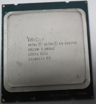 正式版XEON E5-2667 V2 CPU X79八核心LGA2011 8核心 SR19W I7 2660 2650