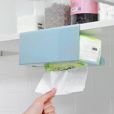 新款紙巾盒鐵藝廚房用紙抽取式吸油吸水擦手紙收納廚房紙巾盒免打孔抽紙巾架