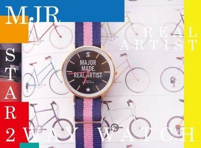☆MAVIS MAJOR MADE 百搭雙錶帶交替編織造型手錶
