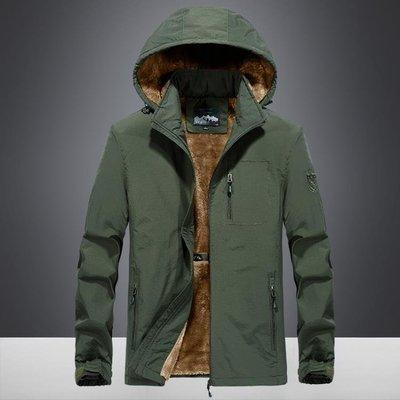 吉普盾冬季外套男秋冬款加絨加厚青年帥氣寬鬆風衣運動保暖夾克