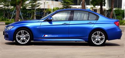 專用于寶馬車貼拉花貼紙 BMW Motorsport車門貼花M裝飾貼個性改裝
