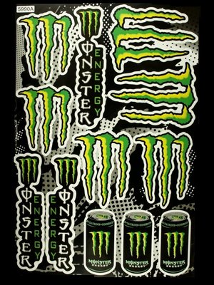 【高橋車部屋】大張彩貼 (26) 貼紙 機車 Monster 鬼爪 BWS 滑胎 越野 rockstar