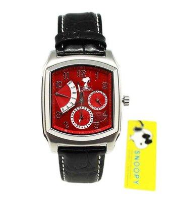 【卡漫迷】Snoopy 手錶 紅 ㊣版 強化水晶 史努比 史奴比 女錶 男錶 月曆功能 日期 星期 五折出清