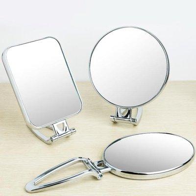 鏡子 台式化妝鏡子雙面手柄鏡便攜折疊壁...
